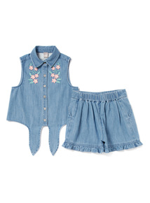 Denim Short and Top Set (3-14 years)
