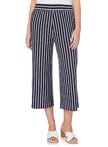 Navy Striped Trousers
