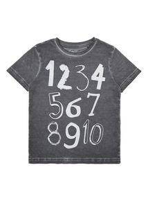 Boys Grey Number Tee (9 Months-6 Years)
