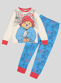 Paddington Bear Multicoloured Long-Sleeved Pyjamas (1-6 Years)