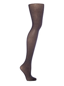 Adult Black Halloween Silver Cobweb Tights