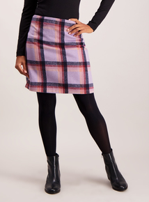 Multicoloured Checked Mini Skirt