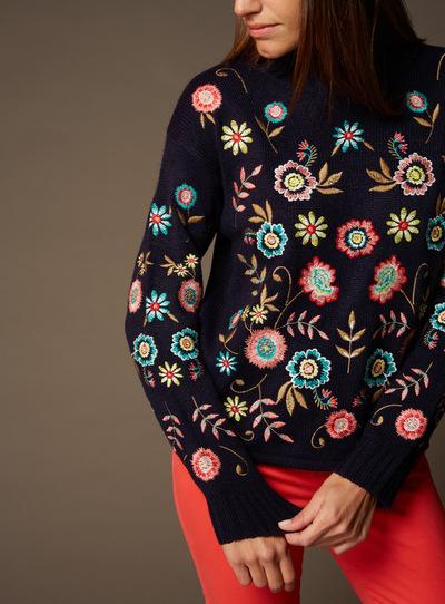 Premium Multicoloured Embroidered Jumper