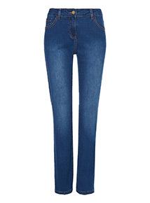 Mid Denim Straight Leg Jeans