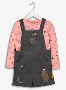 Gruffalo Grey & Pink Bib Short Set (9 months-6 years)