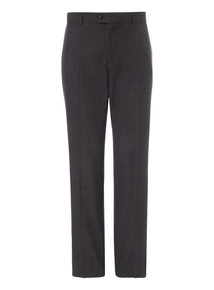 Charcoal Herringbone Trousers