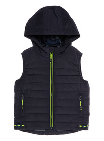 Navy Hooded Gilet (3-12 years)