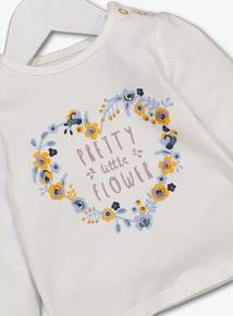 Cream Floral Print Jersey Top (0-24 Months)