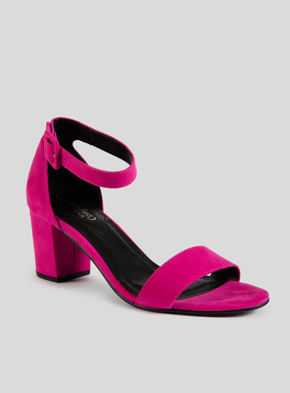 211ffead1f Womens Sole Comfort Fuschia Pink Block Heels With Strap | Tu clothing