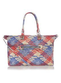 Blue Tile Pattern Bag
