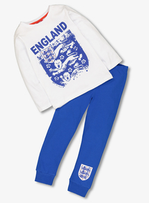 England White & Blue Pyjamas (1-12 Years)