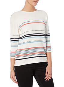 Stripe Boxy Ripple Jumper