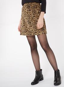 Camel Leopard Mini Skirt
