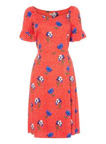 Online Exclusive Floral Tea Dress
