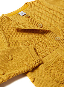 Yellow Cable Knit Cardigan (9 months- 6 years)