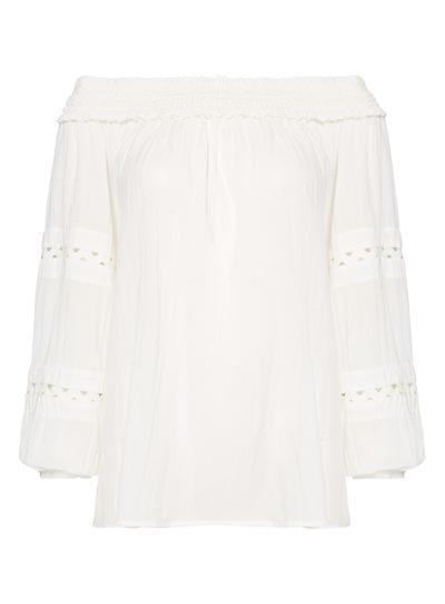 Cream Sleeve Detail Top