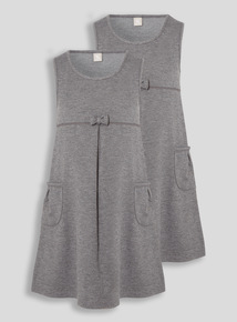 Grey Jersey Dress 2 Pack (3-12 years)