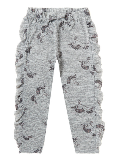 Grey Unicorn Frill Lounge Jogger (3-14 years)