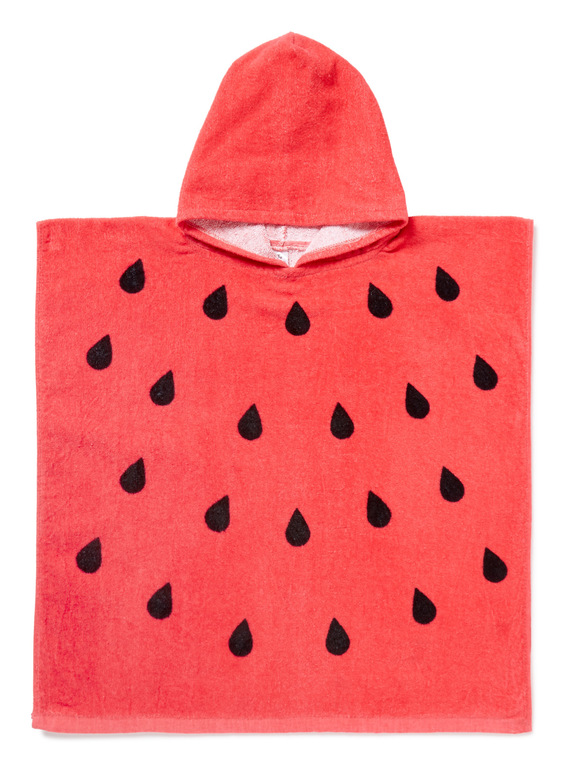 Red Watermelon Hooded Towel