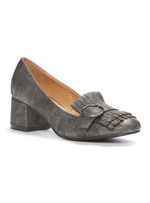 Silver Fringe Loafers