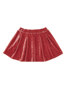 Girls Pink Velvet Skirt (3-12 years)