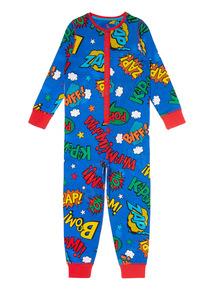 Kids Multicoloured Superhero Sleepsuit (1-12 years)