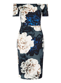 Online Exclusive Floral Bardot Dress
