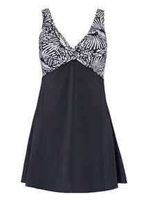 Palm Print Swim Dress