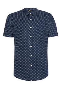 Admiral Navy Spot Print Shirt