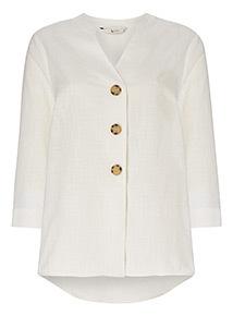 White Button Through Blouse