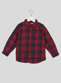Red Tartan Check Lumberjack Over Shirt (9 Months - 6 Years)