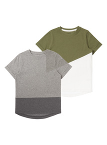 Boys Grey Colour Block Top (3-12 years)