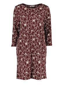 Online Exclusive Burgundy Floral Shift Dress