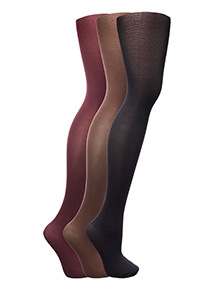 Multi 60 Denier Opaque Tights 3 Pack