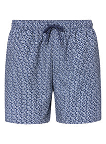 Blue Geographic Print Board Shorts