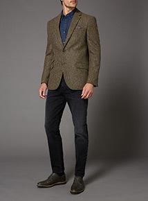 Brown Herringbone 100% British Wool Jacket
