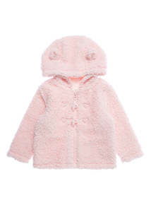 Girls Pink Fleecy Cloud Jacket (0-24 months)