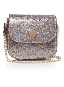 Silver Glitter Occasion Bag