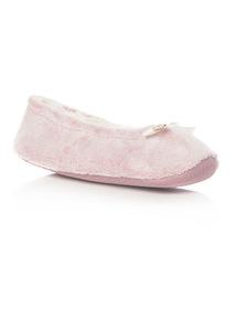 Pink Velour Ballerina