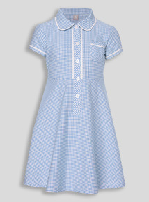 Blue Generous Fit Gingham Dress (3 - 12 years)