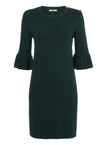 Dark Green Flare Dress
