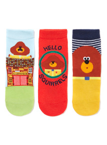 3 Pack Multicoloured Hey Duggee Socks