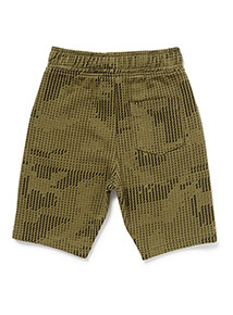 Green Geographic Print Jersey Shorts (3-14 years)
