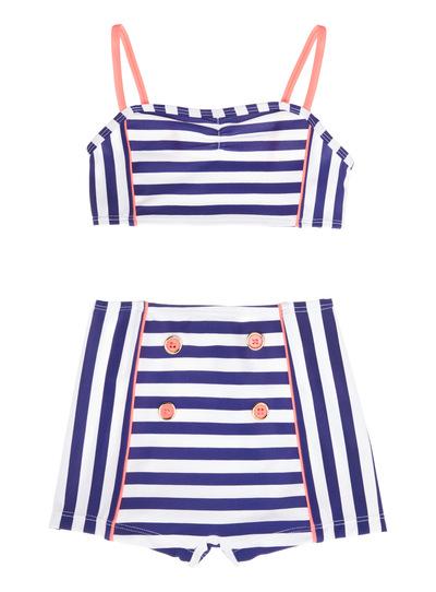 Multicoloured Striped Bikini (5 - 14 years)