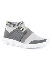 Contrasting Textures Sock Trainer