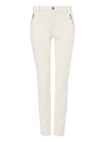 Cream Utility Skinny Jeans