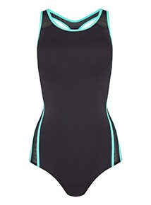 Online Exclusive Secret Shaping Neon Trim Swimsuit