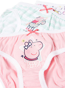 5 Pack Multicoloured Peppa Pig Unicorn Briefs