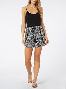 Monochrome Petal Shorts