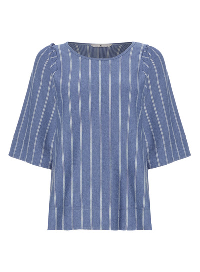 Blue Boxy Stripe Tee